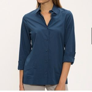 Lacoste Mesh Button Up Long Sleeve Shirt
